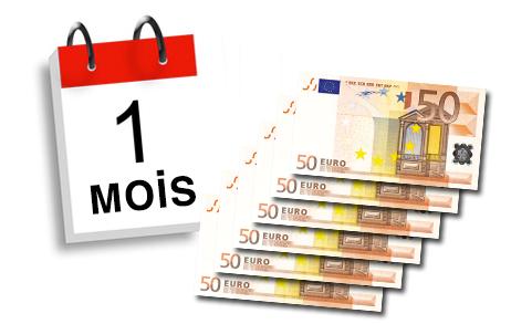 300 euros 1 mois